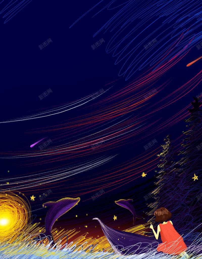 幻想手绘线条背景图背景图片 素材7invkkegq 新图网