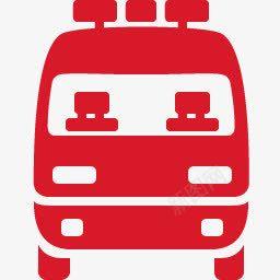 手绘红色急救车图标免抠素材免费下载 素材0sjwjjwpj 新图网