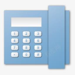 蓝色电话机图标免抠素材免费下载 素材0iqkggujg 新图网