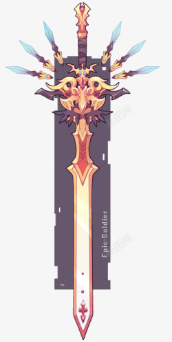 Weapon commission 57   A custom weapon commission for TheMoonlitPrince素材